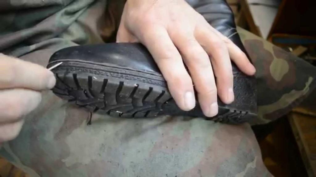 Как самому прошить ботинки видео